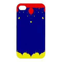 Critical Points Line Circle Red Blue Yellow Apple iPhone 4/4S Hardshell Case