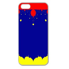 Critical Points Line Circle Red Blue Yellow Apple Seamless iPhone 5 Case (Clear)