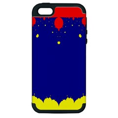 Critical Points Line Circle Red Blue Yellow Apple iPhone 5 Hardshell Case (PC+Silicone)