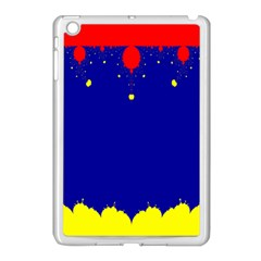 Critical Points Line Circle Red Blue Yellow Apple iPad Mini Case (White)