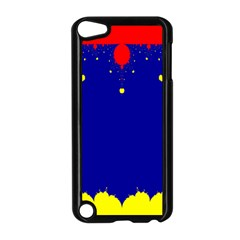 Critical Points Line Circle Red Blue Yellow Apple iPod Touch 5 Case (Black)