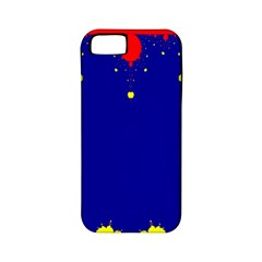 Critical Points Line Circle Red Blue Yellow Apple iPhone 5 Classic Hardshell Case (PC+Silicone)