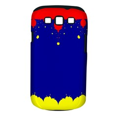Critical Points Line Circle Red Blue Yellow Samsung Galaxy S III Classic Hardshell Case (PC+Silicone)