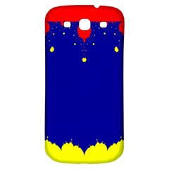 Critical Points Line Circle Red Blue Yellow Samsung Galaxy S3 S III Classic Hardshell Back Case