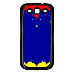 Critical Points Line Circle Red Blue Yellow Samsung Galaxy S3 Back Case (Black)