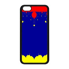 Critical Points Line Circle Red Blue Yellow Apple iPhone 5C Seamless Case (Black)