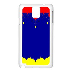 Critical Points Line Circle Red Blue Yellow Samsung Galaxy Note 3 N9005 Case (White)