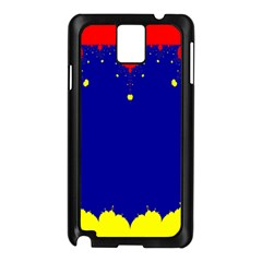 Critical Points Line Circle Red Blue Yellow Samsung Galaxy Note 3 N9005 Case (Black)