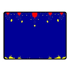 Critical Points Line Circle Red Blue Yellow Double Sided Fleece Blanket (Small)