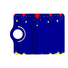 Critical Points Line Circle Red Blue Yellow Kindle Fire HD (2013) Flip 360 Case