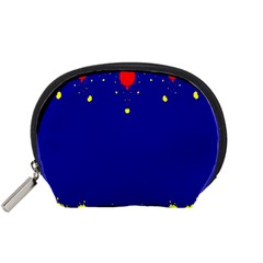 Critical Points Line Circle Red Blue Yellow Accessory Pouches (Small)