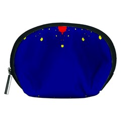 Critical Points Line Circle Red Blue Yellow Accessory Pouches (Medium)