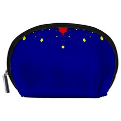 Critical Points Line Circle Red Blue Yellow Accessory Pouches (Large)