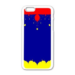 Critical Points Line Circle Red Blue Yellow Apple iPhone 6/6S White Enamel Case