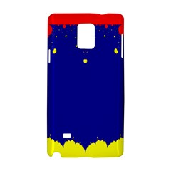 Critical Points Line Circle Red Blue Yellow Samsung Galaxy Note 4 Hardshell Case