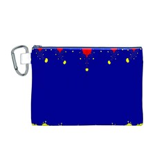 Critical Points Line Circle Red Blue Yellow Canvas Cosmetic Bag (M)