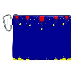 Critical Points Line Circle Red Blue Yellow Canvas Cosmetic Bag (XXL)