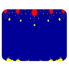 Critical Points Line Circle Red Blue Yellow Double Sided Flano Blanket (Medium)