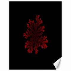 Dendron Diffusion Aggregation Flower Floral Leaf Red Black Canvas 18  x 24