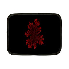 Dendron Diffusion Aggregation Flower Floral Leaf Red Black Netbook Case (Small)