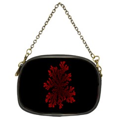 Dendron Diffusion Aggregation Flower Floral Leaf Red Black Chain Purses (two Sides)