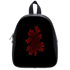 Dendron Diffusion Aggregation Flower Floral Leaf Red Black School Bags (Small)