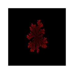 Dendron Diffusion Aggregation Flower Floral Leaf Red Black Acrylic Tangram Puzzle (6  x 6 )