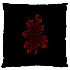 Dendron Diffusion Aggregation Flower Floral Leaf Red Black Large Cushion Case (One Side)
