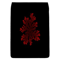 Dendron Diffusion Aggregation Flower Floral Leaf Red Black Flap Covers (L)