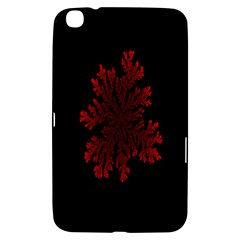 Dendron Diffusion Aggregation Flower Floral Leaf Red Black Samsung Galaxy Tab 3 (8 ) T3100 Hardshell Case