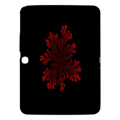 Dendron Diffusion Aggregation Flower Floral Leaf Red Black Samsung Galaxy Tab 3 (10.1 ) P5200 Hardshell Case