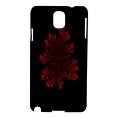 Dendron Diffusion Aggregation Flower Floral Leaf Red Black Samsung Galaxy Note 3 N9005 Hardshell Case