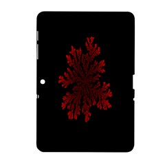 Dendron Diffusion Aggregation Flower Floral Leaf Red Black Samsung Galaxy Tab 2 (10 1 ) P5100 Hardshell Case