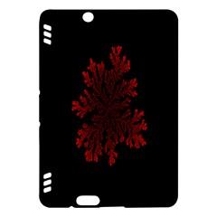 Dendron Diffusion Aggregation Flower Floral Leaf Red Black Kindle Fire HDX Hardshell Case