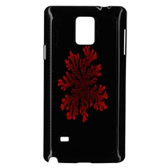 Dendron Diffusion Aggregation Flower Floral Leaf Red Black Samsung Galaxy Note 4 Case (Black)
