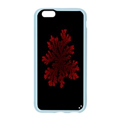 Dendron Diffusion Aggregation Flower Floral Leaf Red Black Apple Seamless iPhone 6/6S Case (Color)