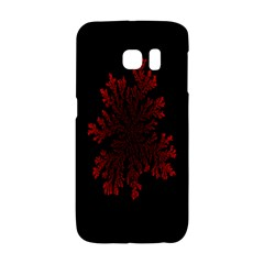 Dendron Diffusion Aggregation Flower Floral Leaf Red Black Galaxy S6 Edge