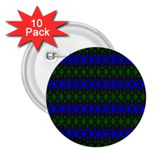 Diamond Alt Blue Green Woven Fabric 2.25  Buttons (10 pack)