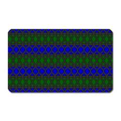 Diamond Alt Blue Green Woven Fabric Magnet (Rectangular)