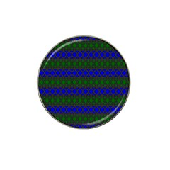 Diamond Alt Blue Green Woven Fabric Hat Clip Ball Marker (10 pack)