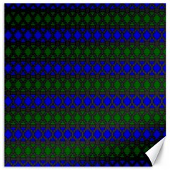 Diamond Alt Blue Green Woven Fabric Canvas 16  x 16