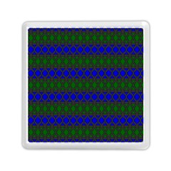 Diamond Alt Blue Green Woven Fabric Memory Card Reader (Square)