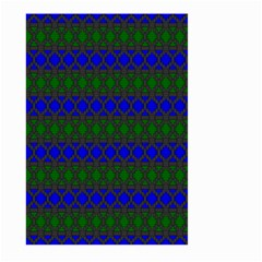 Diamond Alt Blue Green Woven Fabric Large Garden Flag (Two Sides)