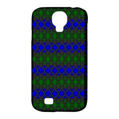 Diamond Alt Blue Green Woven Fabric Samsung Galaxy S4 Classic Hardshell Case (PC+Silicone)