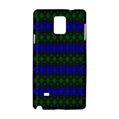 Diamond Alt Blue Green Woven Fabric Samsung Galaxy Note 4 Hardshell Case