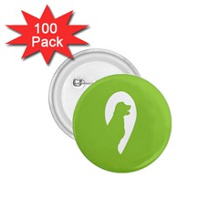 Dog Green White Animals 1.75  Buttons (100 pack)
