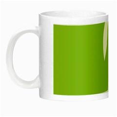 Dog Green White Animals Night Luminous Mugs