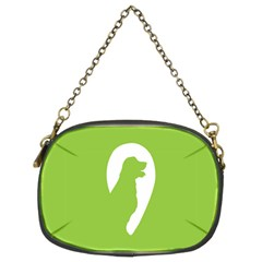 Dog Green White Animals Chain Purses (two Sides)