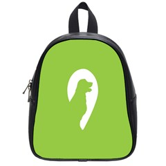 Dog Green White Animals School Bags (Small)