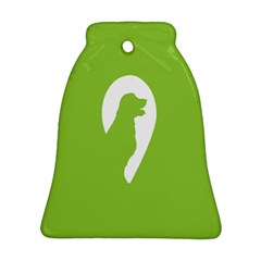 Dog Green White Animals Bell Ornament (Two Sides)
